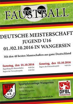 Deutsche Meisterschaft der Jugend 16 - Feld 2016 in Wangersen